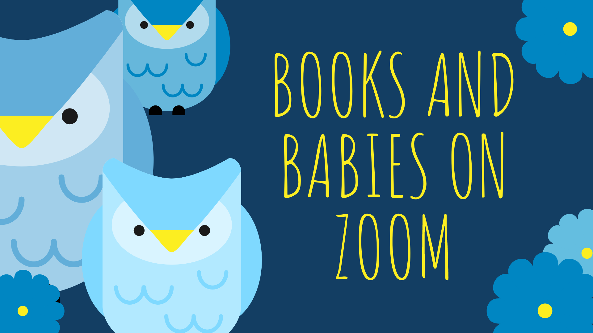 Books and Babies banner with owls